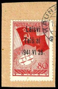 LITHUANIA Telsiai 8  Used (ID # 72911)