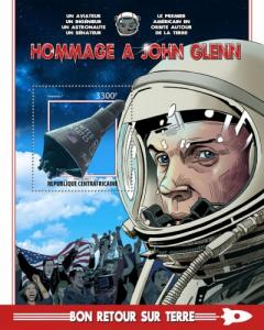 C A R - 2017 - Tribute to John Glenn - Perf Souv Sheet - M N H