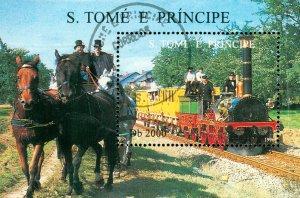 ST THOMAS & PRINCE ISLANDS 1286  MH SS SCV $5.00 BIN $2.50  TRAINS