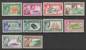 Pitcairn Islands Sc# 1-8 MH 1940-1951 Definitives