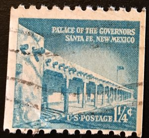 1054A Palace, Liberty Series, 10H Perf. Coil, Circ. Single, Vic's Stamp Stash