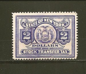 USA State of New York $2.00 Stock Transfer Tax Stamp Used