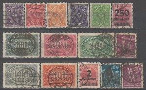 COLLECTION LOT # 4950 GERMANY 15 STAMPS 1922+ CV+$22