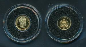 [99484] Samoa 2009 1 Dollar Pallas Athene Proof Gold 999 /  0,50 gram