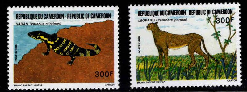 Cameroun Scott 823-824 MNH** 1986 Animal set