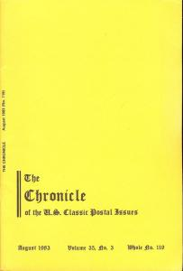 The Chronicle of the U.S. Classic Issues, Chronicle No. 119