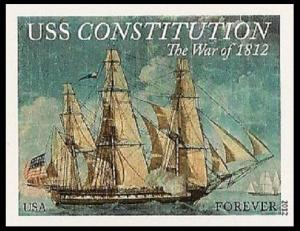 US 4703a War 1812 USS Constitution imperf NDC single MNH 2012
