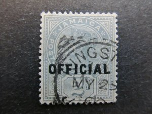 A4P21F26 Jamaica Official Stamp 1890-91 optd type II 2d used