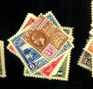 BR GUIANA #194 205-8 MINT FVF OG NH Cat $22