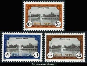 Nepal Scott 673-675 Mint never hinged.
