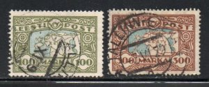 Estonia Sc 78-79 1923-24 map stamp set used