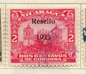 Nicaragua 1931 Early Issue Fine Used 2c. Optd 323681