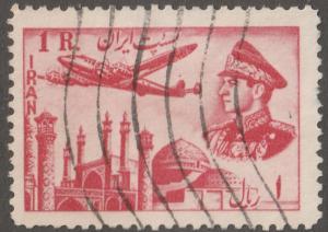 Persian/Iran stamp, Scott# C-69, used hinged, Air mail/post, long stamp, Aps