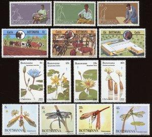Botswana - Sc #274 - 276, 285 - 288, 291 - 294, 337 - 340; MNH 2017 SCV $19.55