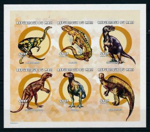 [107155] Mali 2000 Prehistoric animals dinosaurs Imperf. Sheet MNH