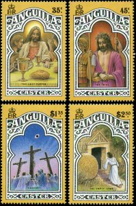 Anguilla Scott #811 - #814 Complete Set of 4 Mint Never Hinged  Easter