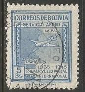 BOLIVIA C103 VFU AIRPLANE N845-8