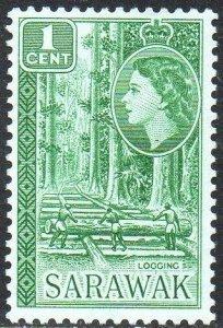 Sarawak 1957 1c Logging MH