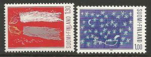 FINLAND 685-86 MOG CHRISTMAS H116