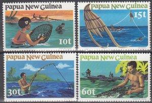 Papua New Guinea MNH 545-8 Fishing 1981