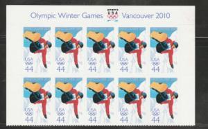 U.S. Scott #4436 Vancouver Winter Olympics Stamp - Mint NH Plate Block of 10
