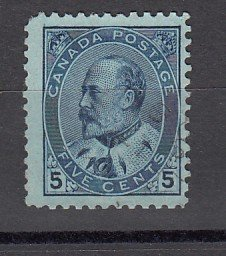 J25674 JLstamps 1903-8 canada used #91 king