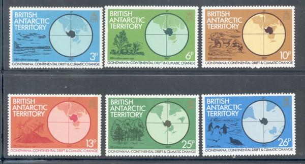 British Antarctic Terr Sc 86-1 1982 Climate stamp set NH