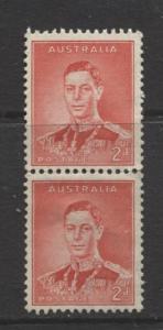 Australia - Scott 169 - KGVI -1937- MNH - Vertical Pair - 2d stamps