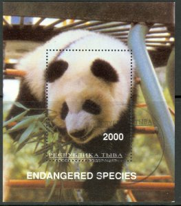 REPUBLIC OF TOUVA Unrecognized PANDA Souvenir Sheet CTO Used
