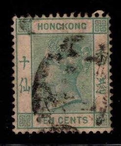 Hong Kong Scott 43 Queen Victoria wmk 2  1891