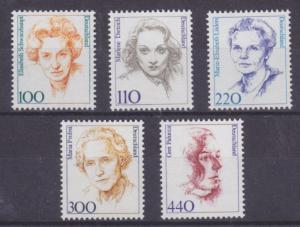 Germany Sc 1724/1734 MNH. 1992-2000 definitves, 5 diff