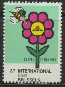 Brussels Fair 1964 Cinderella Poster Stamp Reklamemarken A7P4F820
