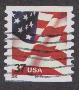 US #3633A Old Glory Used PNC Single plate #B1111
