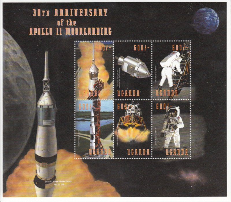 Uganda  MNH Scott # 1603 Souvenir Sheet  SPACE Value $ 7.00  US $$