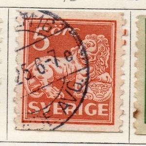 Sweden 1920-25 Early Issue Fine Used 5ore. 143375