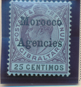 Great Britain, Offices In Morocco Stamp Scott #23, Mint Hinged - Free U.S. Sh...
