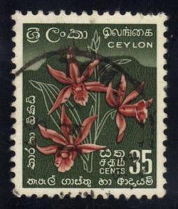 Ceylon #351 Star Orchid, used (0.40)