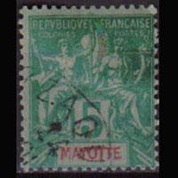 MAYOTTE 1892 - Scott# 4 Goddesa 5c Used
