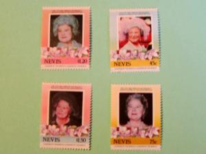 Nevis - 427-30, MNH Set. Queen Mother. SCV - $1.80