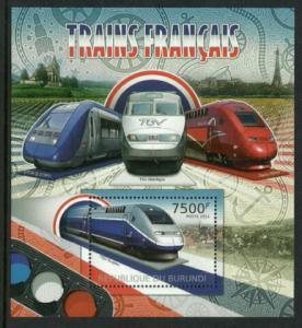 Burundi #1082 MNH S/Sheet - Deluxe Train