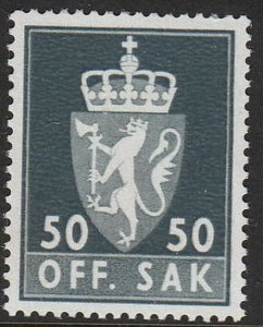 Stamp Norway Official Sc O86 1962 Coat of Arms Emblem Lion Dienst MNH
