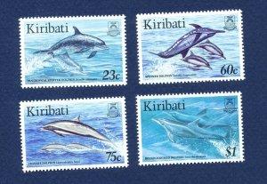 KIRIBATI - Scott 675-678 - FVF MNH -  Fish   Dolphin - 1996