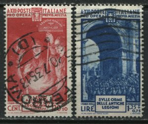Italy 1935 Semi Postals 20 + 10¢ and 1.25 lire + 75¢ used