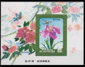 1986 Korea, North 2754/B216 Flowers 7,00 €