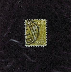 SC# 67b USED 5 CENT WASHINGTON, 1861, PARTIAL PAID CANCEL, HIGH CATALOG VALUE