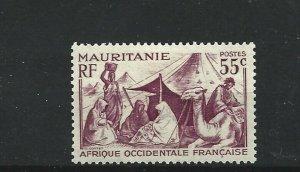 MAURITANIA  1938 - 40  55C  LILAC            MH
