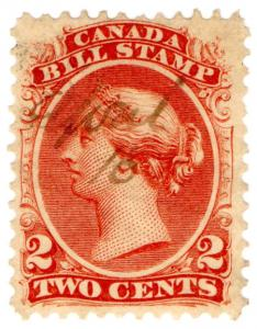 (I.B) Canada Revenue : Bill Stamp 2c (1865)