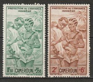 Cameroun 1942 Sc CB1-2 Yt PA19-20 air post set MLH*/MNH**