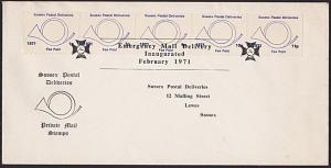 GB 1971 Post Office Strike mail cover : Sussex Postal Deliveries............5451