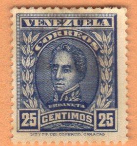 VENEZUELA SC# 255B **USED** 1913  25c  SEE SCAN